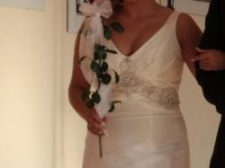 Wyjątkowa, promienna suknia z pracowni M.Lenk, wzór FARA SPOSA 2009, rozm.38-40