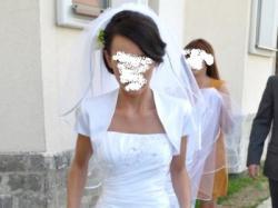 wyjątkowa śnieznobiała suknia ślubna
