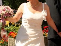 wyjątkowa suknia dla niskiej dziewczyny, rozmiar 40