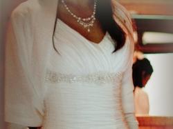 wyjątkowa suknia ślubna + bolerko gratis
