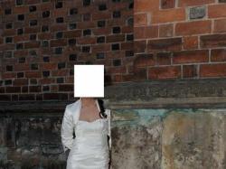 wyjatkowa suknia slubna ecru 36