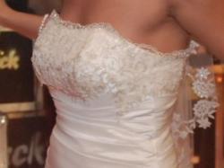 Wyjątkowa suknia ślubna na wzór BENJAMIN ROBERTS 930, kolor ivory, 36