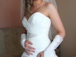 Wyjątkowa suknia ślubna w kolorze jasne ecri