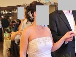 Wyjątkowa suknia ślubna z dodatkami - rozmiar 38/40