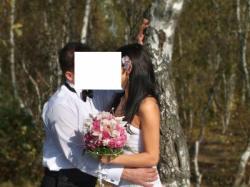 Wyjątkowa suknia ślubna z kamieniami Swarovski'ego