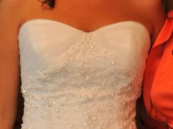 wyjątkowa suknia z trenem firmy La Mariee