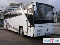 Wynajem luksusowych autokarów, busów, limuzyn dla gości weselnych i Pary Młodej