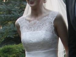 Wytworna koronkowa suknia ślubna, model Belisma, Nabla, 36-38, ecru