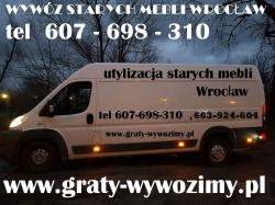 wywóz starych mebli,Wrocław,cena,tel.607-698-310,opróżnianie piwnic