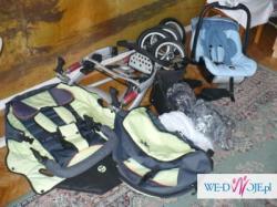 x-lander x1 amortyzatory + nosidełko x-car adaptery wózek wielofunkcyjny