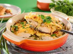 Zapiekanka z kurczakiem i kapustą pekińską