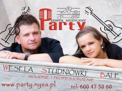 Zespół muzyczny PARTY - wesele studniówka