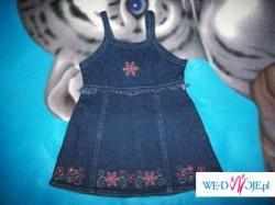 Zestaw dla dziewczynki 98 - 3 sukienki tuniczki, 2 bluzeczki i Gratis ! Tanio!
