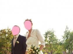 Zjawiskawa Suknia Ślubna wraz z bolerkiem w rozmiarze 36-38, kolor ecru