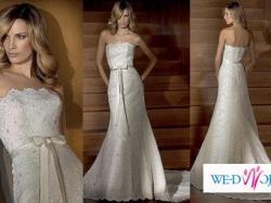 Zjawiskowa hiszpańska suknia ślubna Madonna San Patrick Bahamas
