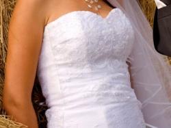Zjawiskowa Śnieżnobiała suknia ślubna!!!!