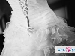 Zjawiskowa Suknia Ślubna Agnes Kolekcja 2012r.R.34-36+GRATIS