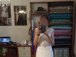 Zjawiskowa suknia ślubna jak nowa okazja 36 s Berta Fulara
