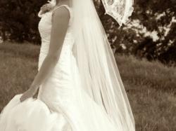 Zjawiskowa suknia ślubna z trenem La Mariee rozm. 36