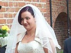 Złota 2częściowa Suknia Ślubna