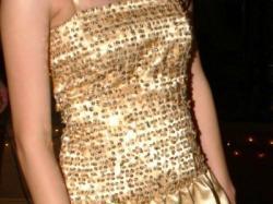 """""""złota rybka"""" wyjątkowa suknia przyciągająca wzrok!!!"""