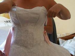zmodyfikowana giovani angel suknia slubna typu princes, tiul, koronka, kryształy