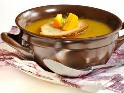 Zupa dyniowa z grzybami