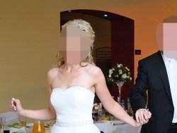 zwiewna i dziewczęca suknia ślubna - sprzedam