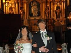 Zwiewna, romantyczna suknia ślubna z klasą 36-38