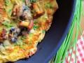 omlet z grzybami