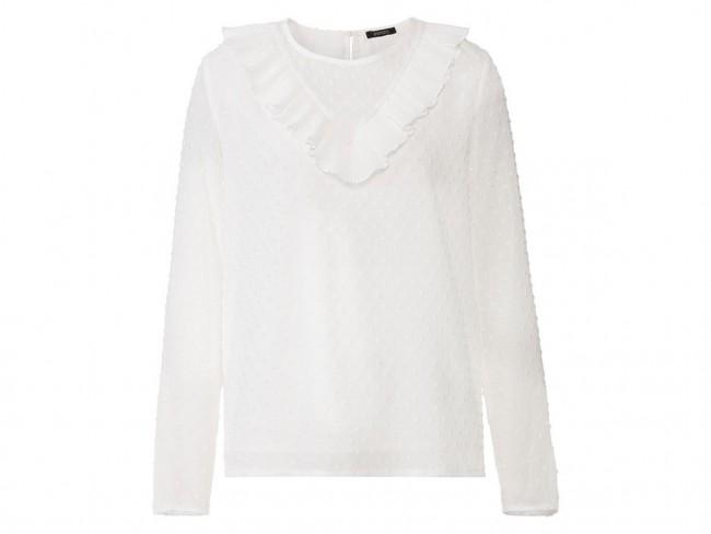 biała bluzka Lidl