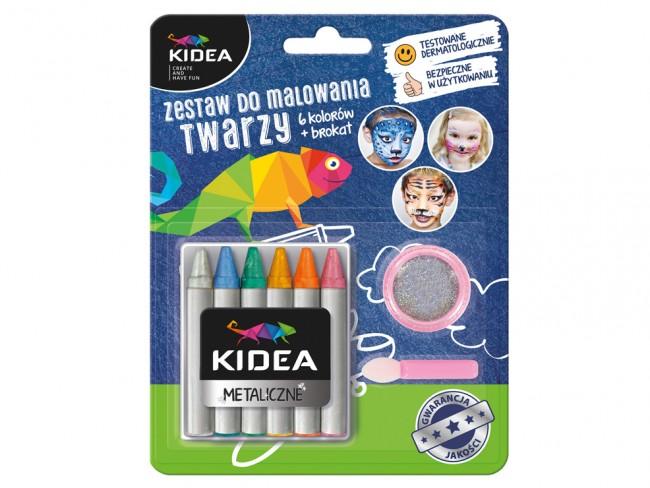Farbki do twarzy Kidea