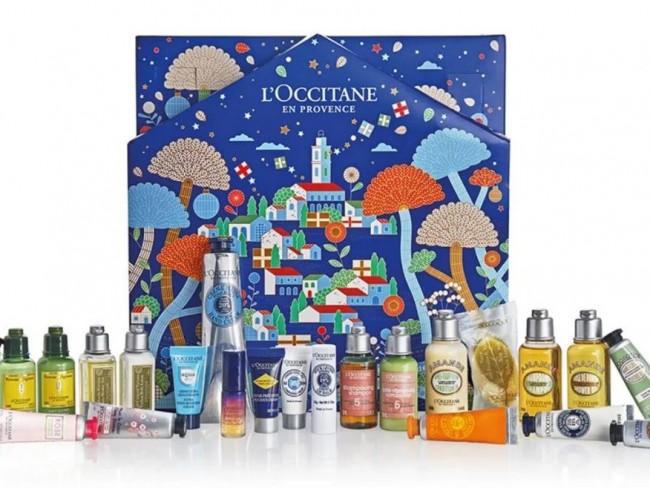 kalendarz adwentowy z kosmetykami Loccitane 2021