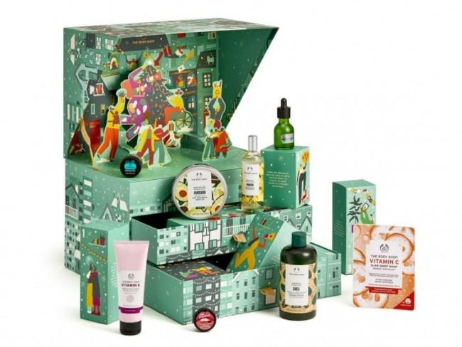 kalendarz adwentowy z kosmetykami 2021 the body shop