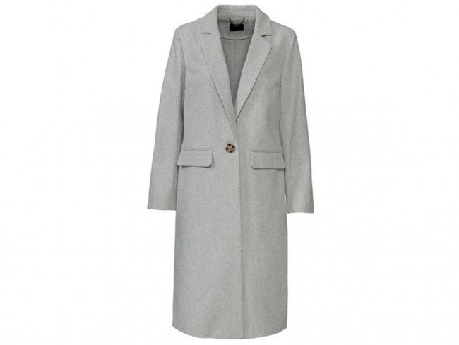 szary płaszcz z Lidla