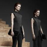 asymetryczna bluzeczka Alexander Wang w kolorze czarnym - zima 2013/14