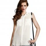 asymetryczna bluzeczka H&M w kolorze ecru - kolekcja na jesień i zimę 2012/13