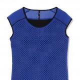 asymetryczna bluzeczka House w kolorze niebieskim - moda sylwestrowa 2012
