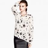 asymetryczna koszula H&M w gwiazdki - moda na zimę