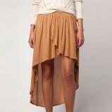 asymetryczna spódnica Bershka w kolorze brązowym - spódnice 2012/13