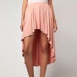 asymetryczna spódnica Bershka w kolorze jasnoróżowym - jesień i zima 2012/13