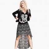 asymetryczna spódniczka H&M we wzorki - wiosna i lato 2013