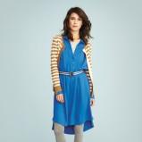 asymetryczna sukienka Jackpot w kolorze niebieskim - moda 2013