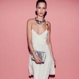 asymetryczna sukienka Patrizia Pepe w kolorze białym - lato 2013