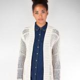 asymetryczny sweterek Stradivarius w kolorze białym   - ciepłe swetry 2012/13