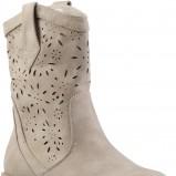 ażurowe botki CCC w kolorze brązowym - obuwie na wiosnę