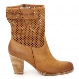 ażurowe botki Venezia w kolorze brązowym - obuwie na wiosnę