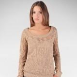 ażurowy sweter Stradivarius w kolorze beżowym   - sweterki 2012/13