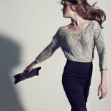 ażurowy sweter Stradivarius w kolorze szarym - kolekcja na zimę
