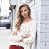 ażurowy sweterek Mango w kolorze ecru - moda na jesień 2013